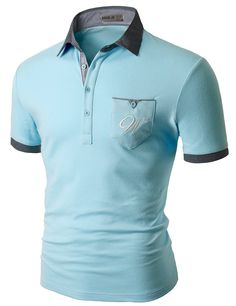 Pocket Embroidered Logo Patch Short Sleeve Polo Shirts