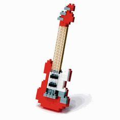 Nanoblock - guitare electrique rouge