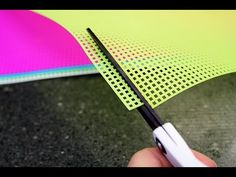 Plastic Canvas Basics: How to Start and End a Strand of Yarn - YouTube