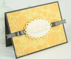 Wedding card by Nichole Heady for Papertrey Ink (January 2012).