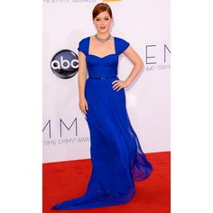 Jane Levy Royal Blue Prom Dress Customized 2012 Emmy Awards Red Carpet