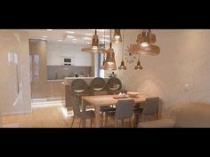 Interiér moderního bytu 3kk v teplých barvách Chandelier, Ceiling Lights, Lighting, Design, Home Decor, Candelabra, Decoration Home, Light Fixtures, Room Decor