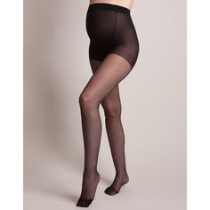 15 Denier Black Over-Bump Maternity Tights ($9) ❤ liked on Polyvore featuring maternity