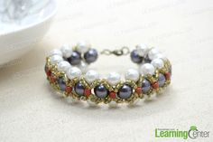 Woven Pearl Bracelet with Seed Beads