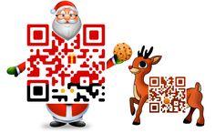 Santa and Rudolph Custom QR Code