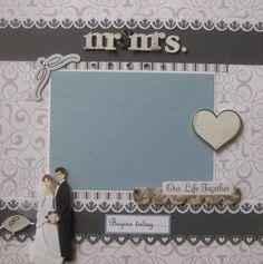 Wedding Couple Scrapbook Layouts On Pinterest Wedding Albums Wedding Scrap