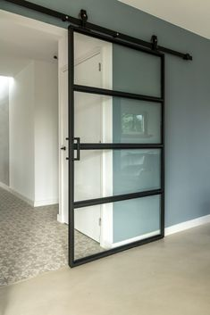 Home Living Room, Interior Design Living Room, Interior Modern, Home Office Decor, Home Office Design, House Design, Steel Frame Doors, Modern Exterior Doors, Internal Sliding Doors