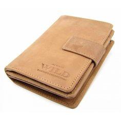 Dámská kožená peněženka s přezkou - peněženky AHAL