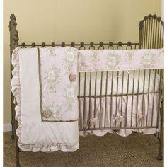 Lollipops & Roses Front Crib Rail Cover Up Set