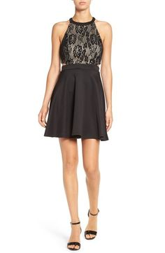 Speechless Cutout High Neck Dress available at #Nordstrom