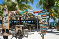 Chill Beach Bar, located in Curacao at Lions Dive and Beach Resort, hasn't been open for long but whoever designed it should get a round of drinks for free every day for the rest of their lif… Relaxing Gif, Tropical Beaches, Nautical Home, Beach Bars, Beach Signs, World Heritage Sites, Life Is Beautiful, Chill, Travel Photography