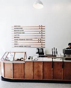 Restaurant Logo, Restaurant Design, Modern Restaurant, Cafe Display, Coffee Shop Aesthetic, Bar Interior Design, Design Design, Cafe Counter, Small Coffee Shop