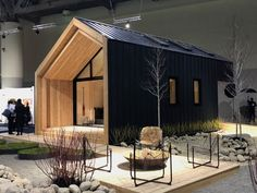 the Top 25 Picks for Your Home From IDS Toronto 2019 This small structure is remarkably comfortable.This small structure is remarkably comfortable. Prefab Cabins, Lake Cabins, Prefab Homes, Cabin Design, Tiny House Design, Modern House Design, Modern Wood House, Casas Containers, Weekend House