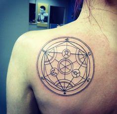 My tattoo Fullmetal alchemist transmutation circle