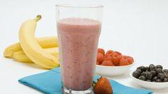 Fruity Yogurt Smoothies •1 cup frozen mixed berries • 1/2 banana • 1/2 cup vanilla yogurt or plain yogurt • 1/2 cup orange juice