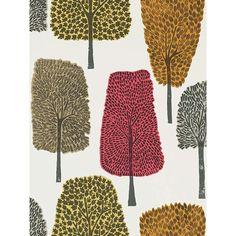 Scion Cedar Wallpaper | Chilli, 111085 at John Lewis