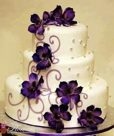 Pretty!!!  Not big fan of the purple, but still beautiful IF I ever get married!