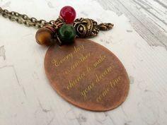 Lazer print necklace  Copper  Necklace Handmade by tovvanda