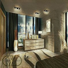 Buffet design master bedroom