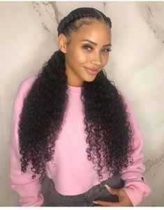 Love my hair! Hair is 2 bundles of Brazilian curly … Love my hair! Hair is 2 bundles of Brazilian curly in from Hair Us Ponytail Styles, Curly Hair Styles, Natural Hair Styles, Curly Ponytail, Curly Wigs, Braid Styles, Human Hair Lace Wigs, 100 Human Hair, Scene Hair