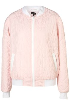 Heart Quilted Bomber Jacket