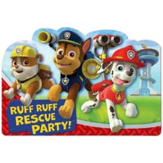 Paw Patrol Invitations 8ct | Wally's Party Factory #pawpatrol #invitations