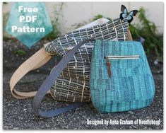The Trail Tote free PDF Sewing Pattern by Anna Graham for Robert Kaufman Fabrics