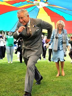 Prince Charles running………LITTLE OUT OF SHAPE THERE CHARLES OLE BOY……..AT LEAST CAMILLA IS ENJOYING HIS MISERY…………….ccp