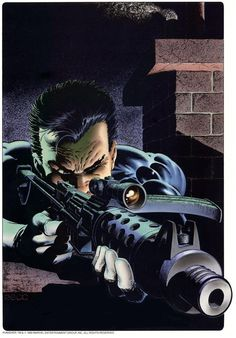 the punisher (frank castle / frank castiglione) - sniper by mike zeck