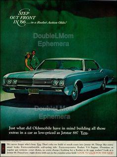 1966 Oldsmobile Jetstar 88 Print Ad // by DoubleLMomEphemera