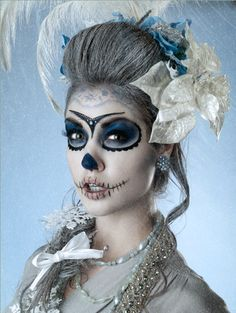 Makeup and hair option for next year's Dia de Los Muertos party.