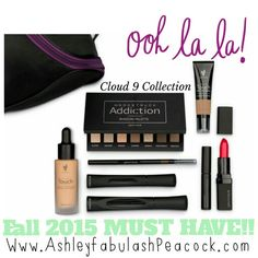 My new favorite Collection. No wonder they call it Cloud Nine. From lips to lashes, get all the latest Younique products from the September 2015 Catalog in one amazing collection. Even comes in a Younique makeup bag! Www.AshleyfabulashPeacock.com