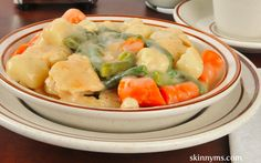 Chicken and Dumplings, slow cooker perfection! #recipe #dinner #food