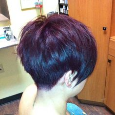 Back of Pixie Cut Long Bangs