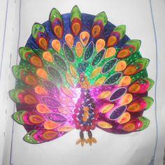 paper qulling-peacock!!