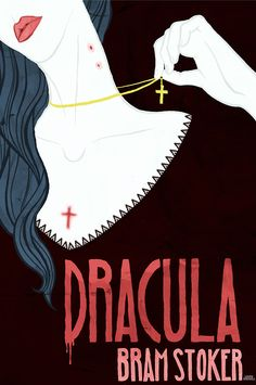 Laura Birdsall illustrated Book cover for Dracula by Bram Stoker