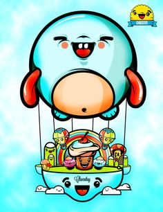 Ballon cute by ChocoToy , via Behance