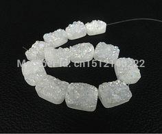 Aliexpress.com: Acheter 11 pcs blanc Drusy Druzy Agate Rectangle Cabochon perles gros pendentif mode bijoux pierre naturelle différentes tailles pour le choix de création de bijoux fiable fournisseurs sur Guangzhou Welcomebeads Co.,Ltd