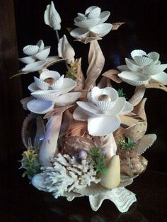Crafts from shells ..