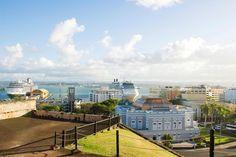 Puerto Rico - Utsikt mot havnen fra fortet San Cristobal