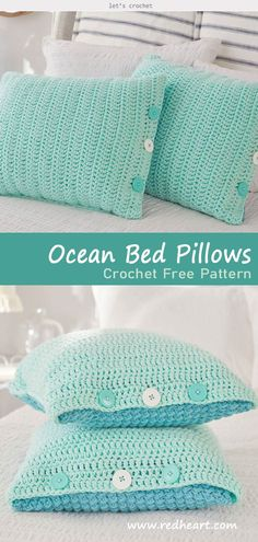 Ocean Front Bed Pillows Crochet Free Pattern Ocean Front Bed Pillows Crochet kostenlose Muster The post Ocean Front Bett Kissen häkeln kostenlose Muster appeared first on Staging HomePage. Sewing Pillow Patterns, Sewing Pillows, Easy Crochet Patterns, Knitting Patterns Free, Free Knitting, Free Pattern, Knitting Ideas, Easy Patterns, Pattern Sewing
