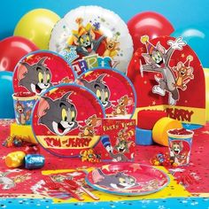 Tom & Jerry party decorations