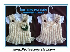 Looking for your next project? You're going to love 672 KNIT GIRLS DRESS, newborn to 6 yrs. by designer Hectanooga.