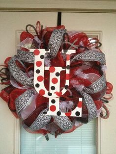 UL Lafayette Ragin Cajuns Wreath. $80.00, via Etsy.