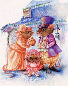 MOUSE CHRISTMAS GIFTS  by Judy Mastrangelo