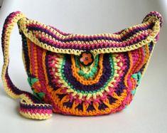 Ganchillo patrón patrón de bolso de ganchillo por LuzPatterns