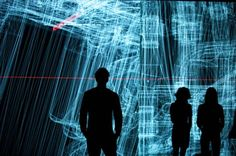 Ryoji Ikeda. data.anatomy [civic]. I think its cool that art takes the lead from science. The artist has created a huge installation art from CAD info from the re-designed five-door Honda Civic.