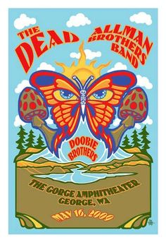 The Dead, Allman Brothers Band and the Doobie Brothers.