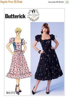 6352, Butterick,  Patterns by Gertie, Rockabilly Dress,CHOOSE an E5 SIZE