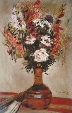 Roses in a Vase, 1872. Pierre Auguste Renoir